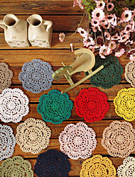 10 cm Round Table Mat Crochet Coasters Zakka Doilies Cup Pad Props For Lampshade