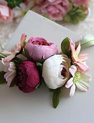 Свадебные цветы В свободной форме Розы Букетик на запястье Свадьба Партия / Вечерняя Полиэфир Атлас