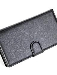capa protetora em relevo couro pu titular do telefone de couro cartão da carteira para Sony Sony Xperia e3