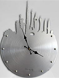 City Silhouette Western Art Wall Clock