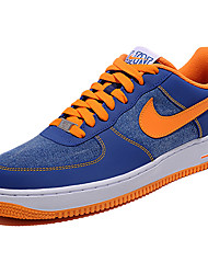 Nike Air Force 1 Round Toe / Sneakers / Running Shoes / Casual Shoes / Skateboarding Shoes Men's Wearproof Low-Top BlueRunning/Jogging /