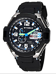 SYNOKE Men's Sport Watch Wrist watch LCD Calendar Water Resistant / Water Proof Dual Time Zones Alarm Luminous Quartz Japanese Quartz