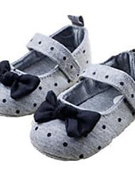Chaussures bébé-Gris-Extérieure-Coton-Plates