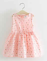 Summer Embroidery Flower Strawberry Cotton Dress Infant Girl Baby 1 Year Birthday Dress
