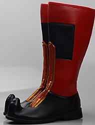 Zapatos de baile(Rojo) -Moderno-Personalizables-Tacón Cuadrado