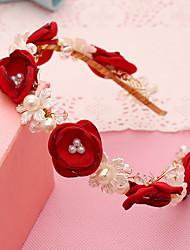Femme Perle / Tissu Casque-Mariage / Occasion spéciale / Décontracté / Extérieur Serre-tête 1 Pièce