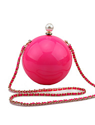 L.WEST Women's Handmade Acrylic Ball Evening Bag