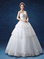 Ball Gown Wedding Dress Floor-length Sweetheart Lace / Satin / Tulle with Lace