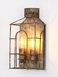 Loft Amercian Vintage Handmade Do Old Color Metal Wall Lamp for Bedroom / Study Room / Foyer House Decorate Wall Lamp