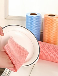 Multicolor Non-woven Fabrics Disposable Clean Cloth 50 Pieces per Reel