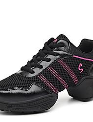 Zapatos de baile(Negro / Blanco) -Moderno-No Personalizables-Tacón Bajo