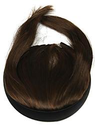 peruca marrom 10 centímetros de alta temperatura do fio costeletas qi cor liu 2009