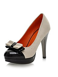 Women's Shoes Cone Heel Comfort / Round Toe Heels Wedding / Office & Career / Dress Black / Yellow