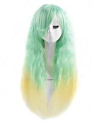 ondas naturais de moda de alta qualidade de cabelo sintético misturado-cor