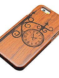For iPhone 5 Case Embossed Case Back Cover Case Cartoon Hard Wooden for iPhone SE/5s/5