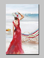 Large Size Oil Painting On Canvas Hand Painted Modern Girl Picture Wall Art With Stretched Frame Ready To Hang 90x140cm