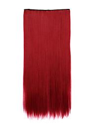 comprimento sintética vermelha 70 centímetros de receber um cabelo de ondulação chip de pílulas cabelos lisos (118c cor)