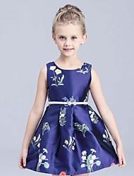 Vestido Chica de-Verano-Rayón-Azul