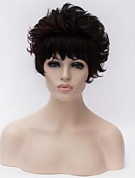 más vendido de Europa y los Estados Unidos una peluca rizada peluca corta negro de mediana edad y de edad