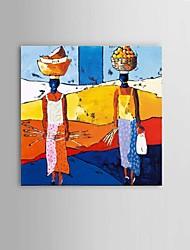 arte mulheres africanas parede pintura a óleo abstrata pintados à mão, com quadro esticado