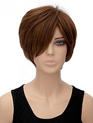 Fashion Natural Brown Color BOBO Straight Wigs Synthetic Wig
