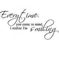 Every Time You Come Ot Mind I Realize I Am Smiling  Wall Stickers