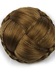 Kinky ouro encaracolado grande tecer chignons cabelo humano sem tampa perucas 2005