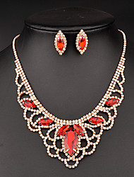 Jewelry Set Women's Anniversary / Wedding / Birthday / Gift / Party / Special Occasion Jewelry Sets Rhinestone CrystalNecklaces /