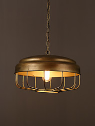 Max 60W Vintage Style Painting Metal Pendant LightsLiving Room / Bedroom / Dining Room / Kitchen / Study Room