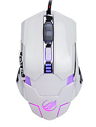 lobo guerra 6d com fio do mouse jogos de luz respiração 3200dpi retroiluminado para lol / cf / dota