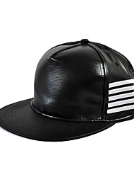 Unisex Leather Stripes Hip-hop Baseball Outdoor Fashion Hat