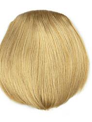 cabelo humano em linha reta Kinky ouro encaracolado tece chignons 1011
