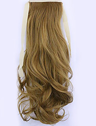 Flaxen Length 50CM Factory Direct Sale Bind Type Curl Horsetail Hair Ponytail(Color 27J)