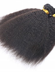 "Mongolian Virgin Hair Coarse Yaki 3 Pcs/Lot Mongolain Hair Weave Bundles  10""-30"" Kinky Straight Human Hair"