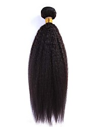 1Pcs/Lot 12-24inch Brazilian Virgin Hair Natural Black Kinky Straight Hair Unprocessed Human Hair Weave Bundles