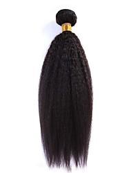 100g / piece 12-24inch бразильские виргинские волосы естественные черные курчавые прямые человеческие волосы переплетены пучки