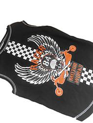 Camiseta para Perros Negro Verano XXS / XS / S / M Algodón