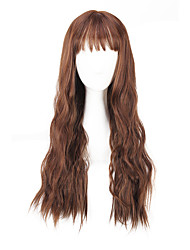 Lowest Price Synthetic Women Wig European Style Brown Long Kinky Straight Heat Resistant Hair Synthetic Wigs