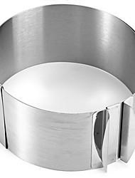 retrátil círculo de aço inoxidável anel mousse bakeware ajustável ferramentas de bicarbonato de pastelaria para o molde bolos de chocolate