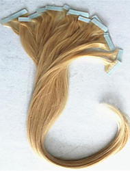 """40pcs / pack, 2,5 g / PC18 """"30"""" extensiones de cabello de cinta del pelo brasileño del pelo humano naturales consecutivos en acciones"""