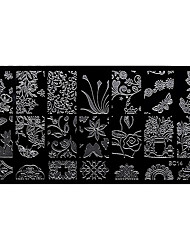 BlueZOO Rectangle Forest Garden Nail Art Stamping (BC-14)