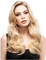 24 inch Women Long Wavy Synthetic Hair Wig Blonde