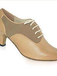 Customizable Women's Dance Shoes Modern / Swing Shoes Synthetic Chunky Heel Black Latin / Jazz / Dance Sneakers / Tap