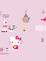 Hello Kitty Kids Girl Bedroom Cartoon Wall Stickers DIY Removable Art Wall Decals