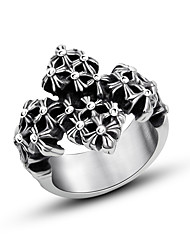 Cross More Elegant Flower Ring