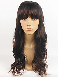 Hot Sale European Wig Black Wavy Women Full Synthetic Wig