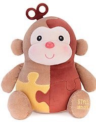 Metoo Microphone Rabbit Plush Toy Monkey  Sunpoo Monkey Mascot Creative Birthday Gift 7 Inch Brown Puzzle