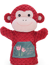 Metoo Microphone Checkered Rabbit Hand Puppet Animal Hand Puppet Series Red Monkey