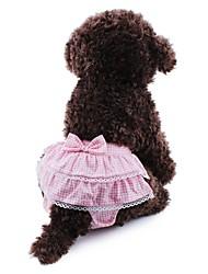 Gatos Perros Pantalones Ropa para Perro Primavera/Otoño Lazo Lunares Cosplay Boda Amarillo Azul Rosa