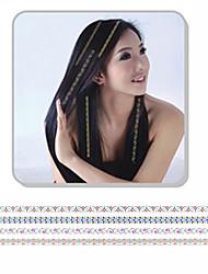 1Pcs New Fashion  Sliver Bronzing Hair Sticker  Hair Accessories